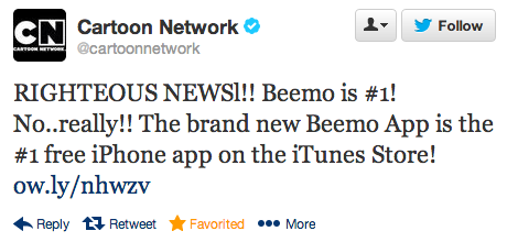 Beemo is Number 1 Tweet.