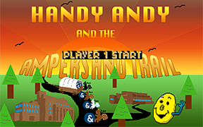 The Handy Andy 2 title screen graphic.