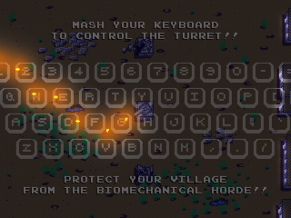 Keyboard control instructions for game.