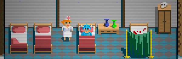 screen of clinic from game.