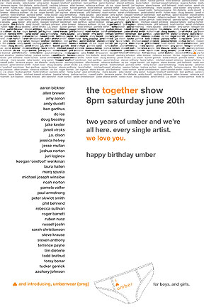 The postcard for Together show.